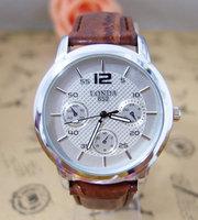 New item quality Brand watch leather strap watches men sports wrist watch High quality quartz wristwatch londa-1