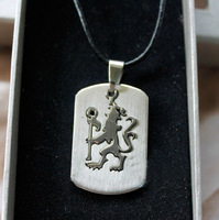 Chelsea Stainless Steel necklace Male pendant tags champions league chelsea necklace team fans accessories male