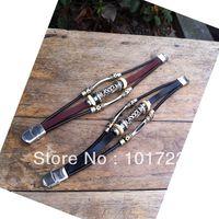 FREE SHIPMENT fashion 2013 hot selling leather bracelet wholesale
