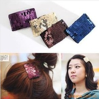 Popular DIY Sparkling paillette 200pcs/lot Hair Clip Coloreful Claw Hairpin Side clip