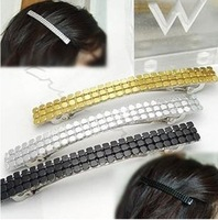 DIY Black/Golden/Sliver Sparkling paillette Hair Clip Claw Hairpin Side clip Hair Accessory