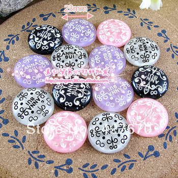 Free shipping Anna Su royal designs famous brands 15pcs 23mm flat back mixed kawaii cabochon home decoration christmas scrapbook