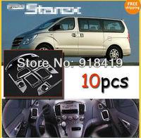 Free Shipping Hyundai 2007~2011 Grand Starex Chrome Interior Moulding Trim set 10pcs/1set