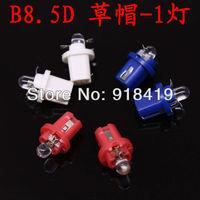 10XLED T5 B8.5D 2721 286 WHITE INTERIOR DOME 12V LIGHT BULB/LAMP/BULBS 5050 SMD Twist Lock white red blue