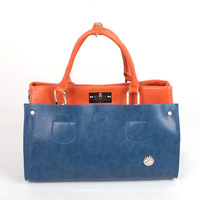 2013 color block candy color women's big bag shoulder bag messenger bag