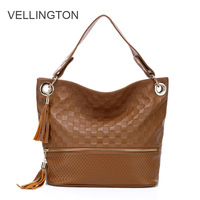 2013 summer casual cowhide women's handbag tassel one shoulder cross-body women's lather-bag