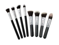 8 Pcs Black Handle Professional Makeup Brushes Set Synthetic Essential Kit Wholesale