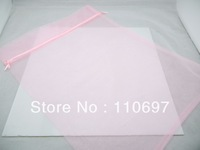 FREE CN P&P 50PCS PINK PLAIN LARGE BIG ORGANZA Jewelry Gift Packing Bags 30*40cm 12*16 inch WINE BOTTLE VOILE Pouches