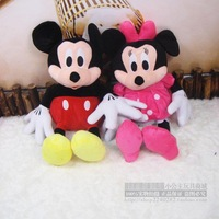 Hot Sale TOY Free Shipping 2pcs/lot American Lovely Couple Mickey Mouse And Minnie Mouse Stuffed animals plush Toys,30cm