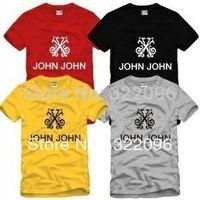 Free shipping Brazil brand JEANS MADE IN HEAVEN t-shirt John John logo printed tshirt man t-shirt drop ship 100% cotton 6 color