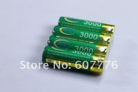 4pcs BTY 1.2v AA 3000mAh Rechargeable Ni-MH NiMH Battery + Free Shipping