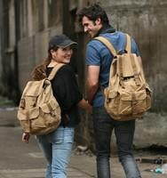 Free shipping fashion designer women canvas backpack travelling bag outdoor sports school back pack rucksack men items BP25