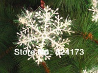 White Snowflake Christmas Winter Tree ORNAMENTS Indoor Wall DECORATION Wedding 6cm Free Shipping