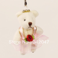stuffed animals toys for girls love gifts wedding decoration rose dress cute  keychain hang hot sale the pendant 6pcs/1 set