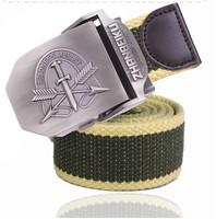 Promotion Freeshipping Men's Belt Brand 1PCS Brand:ZSJAY Men's Zinc Alloy Strengthen Canvas Belt Metal Length110CM Width:3.8CM
