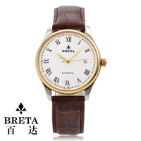 Baida breta watch original br eta-2824 auto mechanical watch genuine leather mens watch