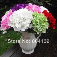 Silk Hydrangea Flower Bunch 7 stems/bunch 55cm Long Floor Artificial Hydrangeas for Wedding Party Xmas Home Decorative Fower