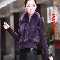 Free shipping new 2013 autumn -summer thick rabbit fur coat women and winter coat women