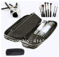 New 12 Pcs Pro Makeup Brush Fashion Eyebrow Cosmetic Brushes ToolSet With Case-