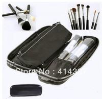 New 12 Pcs Pro Makeup Brush Fashion Eyebrow Cosmetic Brushes ToolSet With Case-