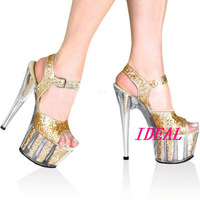 New arrival 2012 15 platform crystal shoes high-heeled shoes sandals performance shoes