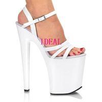 2013 women's shoes 15 20cm ultra high heels sandals platform shoes white crystal wedding shoes