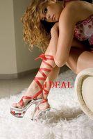 15cm ultra high heels transparent crystal shoes female princess formal dress shoes thin heels ruslana korshunova party shoes