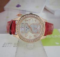 Supply of cheap Teddy Bear belt watch students watch Taobao supply cartoon pattern Leather Watch K-084