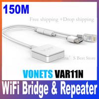 Hot ! VAR11N MINI Wireless Wifi Bridge for PC,laptop,IP cameras /john Free shipping + Drop Shipping