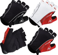 Dropship 2014 Castelli Rosso Corsa Bike Bicycle Fingerless Cycling Gloves  Outdoor Sports Gloves