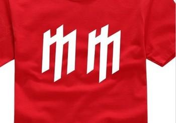 100% Cotton Rock Music Marilyn Manson Personal diy Shirts accept Custom women Shirt +Free shipping