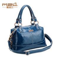 New 2014 casual fashion Patent  leather women's handbag / waxy vintage leather handbag for morden women