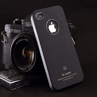 For apple   5 iphone5 shell protective case iphone5 phone case black apple metal shell scrub