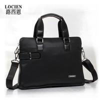 Free shipping Locien cn commercial one shoulder cross-body document laptop bag man bag male cowhide genuine leather bag handbag