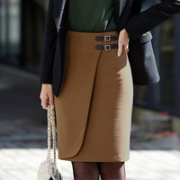 Free Shipping!Big Size Skirts Womens. Fashion Slim Hip Slim Occupational  Skirts.Korean OL commuter