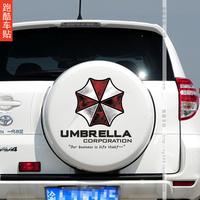 Biochemical crisis car spare tire mark Toyota car stickers car Ann Bbu Leila RAV4