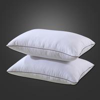 Pillow/ Throw pillows /100% Feather Silk/light Pillow/Zero Pressure Memory Pillow Neck Health / Blue textile bedding