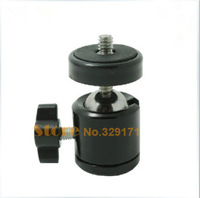 "Free Shipping Universal Mini Tripod Ballhead Ball Head with 1/4"" screw For Digital Camera DSLR"