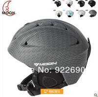 Moon skiing helmet hat autumn and winter adult male Men & Women monoboard cap skiing flanchard