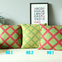 Wholesale Fashion Ikea Style Red Green and Yellow Plaid Cushion Cover Pillows  Decorate for a Sofa 2 Choose 1 Free Shipping