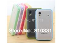 Hot sale Semi Clear Plastic PC+TPU Bumper hard Case for Samsung Galaxy Ace S5830 S5830i S5838 i579 case,10 colors,1pc/lot