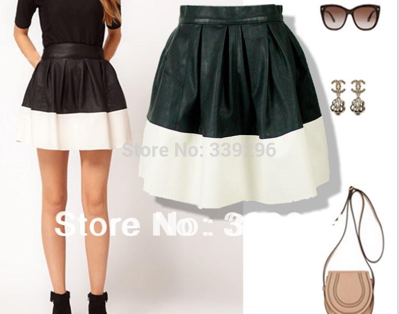 popular white leather skirt buy cheap white leather skirt