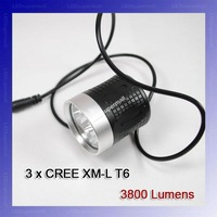 [Shipped By DHL/UPS/EMS/Fedex] 3800-Lumen 3T6 LED High Power Bike Light For 3*Cree XM-L T6 4-Mode LED bike light Kit