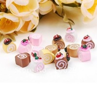 top hot DIY  15 mm  kawaii food  flat back resin cabochons for PHONE decoration