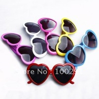 free shippping &100% good quality can be mixed colors   heart shaped  glasses  for   fashion   girls