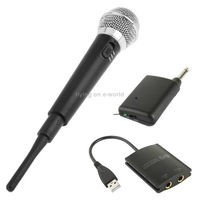 Free Shipping 4 in 1 Wireless Karaoke Microphone for Wii / PS3 / PS2 / XBOX360 Hot Sale