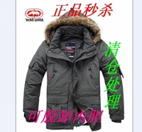 Anti season 2013 rhino down coat male outdoor outerwear detachable liner medium-long down coat  XS- 6XL