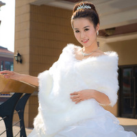 Wedding cape winter bride fur shawl cape autumn and winter fur shawl