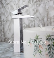 Wholesale New Bathroom Basin Sink Waterfall Faucet Mixer Tap Chrome Vanity Cranes S-901