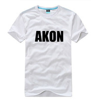 High Quality 100% cotton Rock band Music akon akon men's T-shirt accept customized design Free shipping